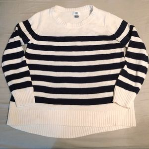Navy and White Stripe Sweater
